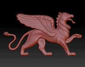legendary lizard like animal panel statue 3D model