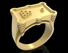 Billiard ring jewelry ring 3D print model