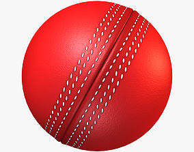 3D asset game-ready Cricket Ball