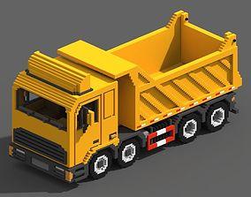 3D asset Voxel Tipper Truck