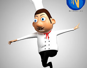 3D model Chef Chartoon Character Rigged