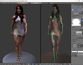 woman ass 3D print model