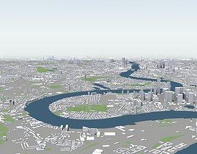 3D model London Skyline