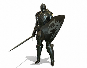 3D asset animated Cavalry Armor