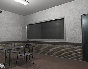 3D model Interrogation room - interior and