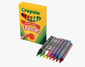 3D model Crayons