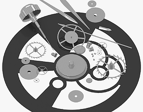 vehicle 3D model Watch Mechanism