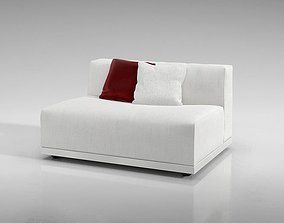 Minimalist Simple White European Couch 3D model
