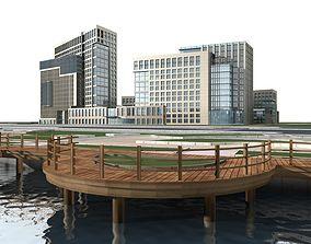 3D apartment-building apartment Office Building