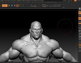 3D model hulk like asian male