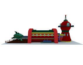 Futurama Planet Express 3D scene