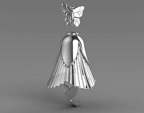 bell Pendant Flower Kalibri 3D printable model