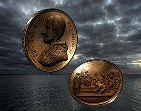 3D asset Vatican medal 18