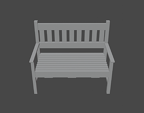 Simple Bench 3D model VR / AR ready