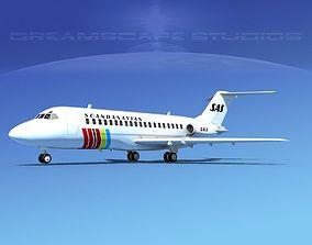 3D model Douglas DC-9-15 SAS