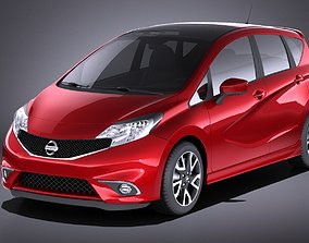 Nissan Note 2016 euro VRAY 3D