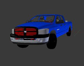 2007 Dodge Ram 1500 Megacab 3D model longbed
