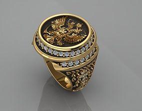 3D printable model men ring Russia
