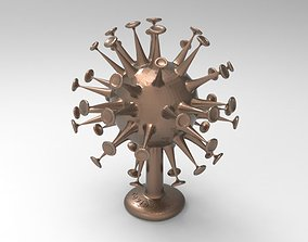 Coronavirus pandemic 3D printable model covid19