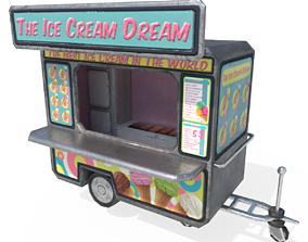 3D asset realtime Ice Cream Truck