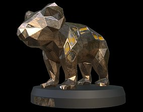 Steampunk Koala 3D asset