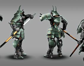 3D model Samurai Robot asset