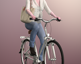 3D model Kim 20120-06 - Animated Bike Riding Woman