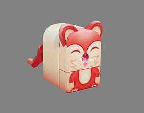 3D model Cartoon stationery - Pencil sharpener