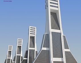 3D model Futuristic Sci-Fi Skyscraper 02
