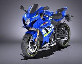 3D Suzuki GSX-R1000 2017 VRAY