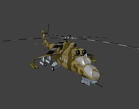 3D model Mil Mi 24 Hind