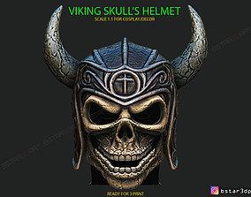 Viking Warrior Skull helmet - 3D printable model 2