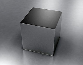 Metal Box table 3D model game-ready