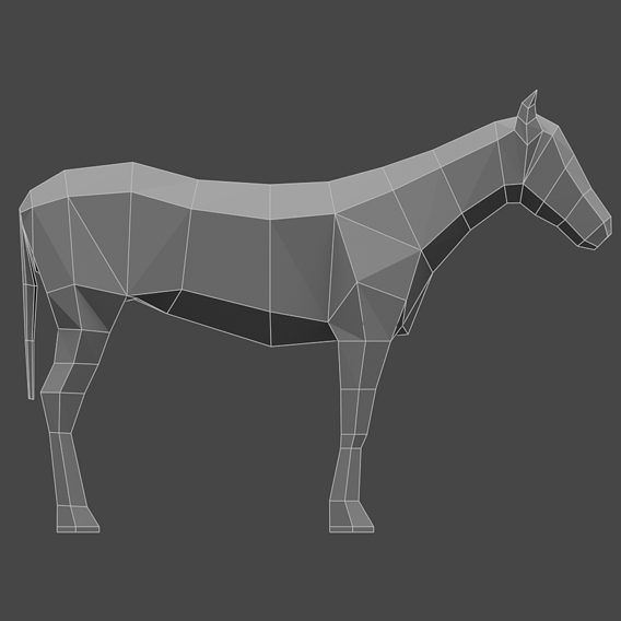 Lowpoly Horse