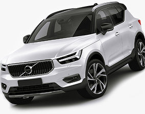 Volvo XC40 2018 3D model realistic