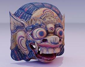 3D asset African Mask 04