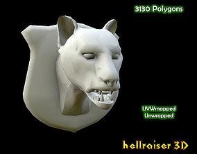 Cougar Head 3D asset
