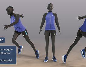 Woman mannequin Rigged in Blender 3D model