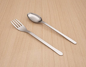 FORK AND SPOON 3D model