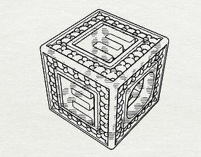Baby Block Charm - E 3D print model
