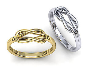 Infinity Knot ring 3dmodel printable infinity-knot
