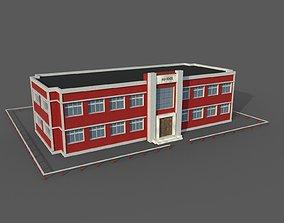 3D asset Cartoon High School