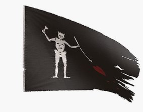 Pirate Flag - Francis Spriggs and Edward Lowe 3D asset