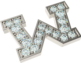 Letter W 3D print model