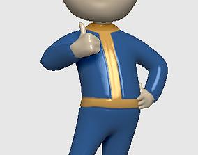VAULT BOY - VAULT MAN - FALLOUT fan art 3D print model