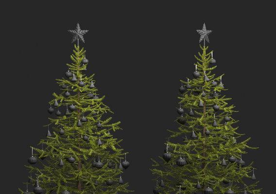 Modern Decorated Christmas Tree