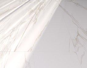 Marble Floor Museum Torano Gold 60x120 3D model