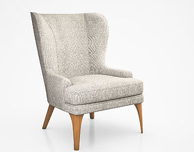 3D model Owen Wing Chair by West Elm