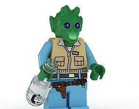 3D model LEGO Minfigure Greedo