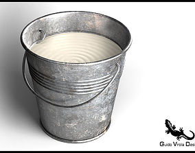 3D model Metal Milk Bucket